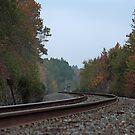 Autumn Railway by Lisa Holmgreen