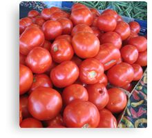 French Market Tomatoes Canvas Print