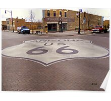 Route 66 in Winslow, Arizona Poster