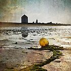 Buoy on a Low Tide with Textures by Eduardo Ventura