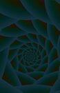 Dark Green Spiral by Objowl