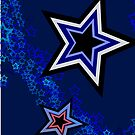 Stars In Blue iPhone Case by christopher r peters