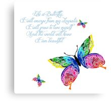 Like A Butterfly Canvas Print