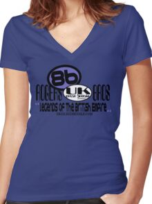 uk great britain by rogers bros Women's Fitted V-Neck T-Shirt