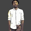 Childish Gambino iPhone Case by M. Russell