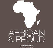 African & proud (white) Unisex T-Shirt