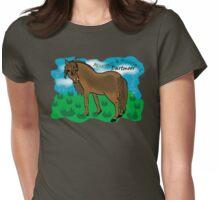 Mountain & Moorland: Dartmoor Pony Womens Fitted T-Shirt