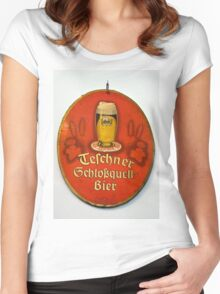The good old beer... Women's Fitted Scoop T-Shirt