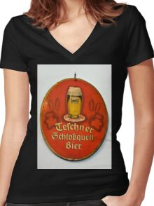The good old beer... Women's Fitted V-Neck T-Shirt