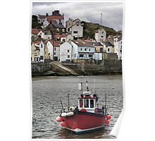 Fishing vessel in Staithes Harbour Poster