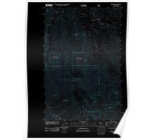 USGS Topo Map Washington State WA Monitor 20110603 TM Inverted Poster