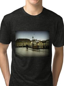 Cycling in the Rain Tri-blend T-Shirt