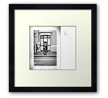 Man with Suit Framed Print