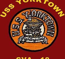 USS Yorktown (CV/CVA/CVS-10) Crest for dark backgrounds by Spacestuffplus