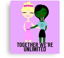 Together We're Unlimited Canvas Print