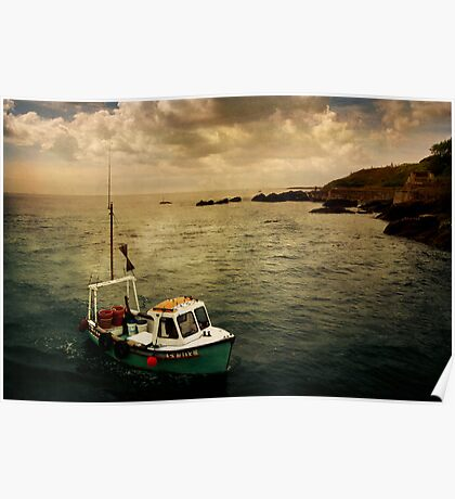 Lone Boat Poster