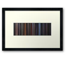 Moviebarcode: Star Wars: Complete Saga (1977-2005) Framed Print