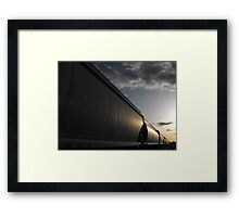 Train In The Last Light Of Day Framed Print