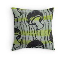 Mushroom print Throw Pillow