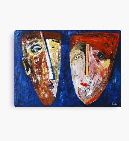 """Family portrait in blue""   Canvas Print"