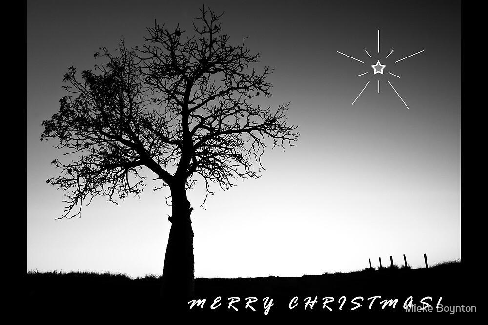 Merry Christmas (B&W) by Mieke Boynton