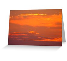 Background of colourful sky. Greeting Card