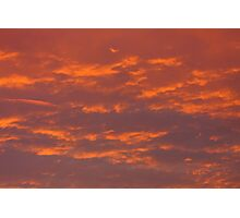 Background of colourful sky. Photographic Print
