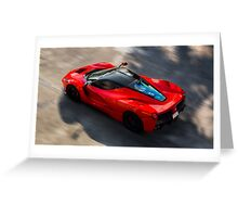 Ferrari LaFerrari in Motion Greeting Card