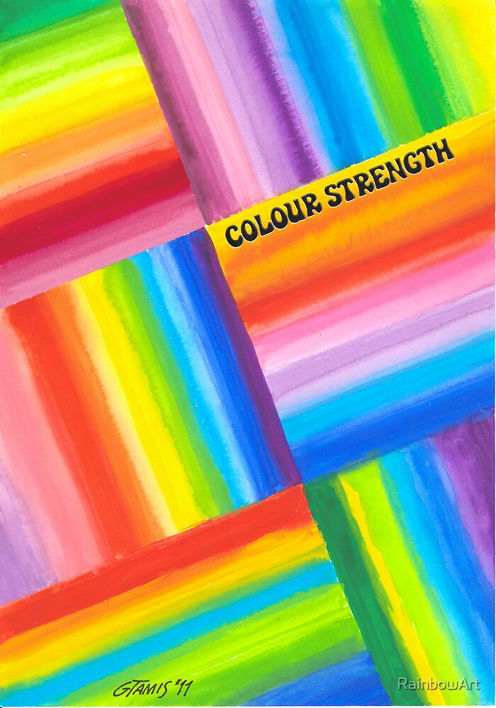 Colour Strength - Brush And Gouache by RainbowArt