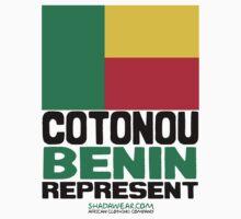 Cotonou, Benin. Represent One Piece - Short Sleeve
