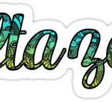 Delta Zeta Doodle Sticker