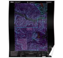 USGS Topo Map Washington State WA Goat Mountain 241327 2000 24000 Inverted Poster
