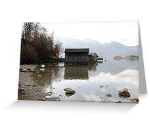 barn on the water Greeting Card