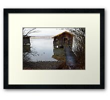 barn on the water 2 Framed Print