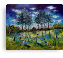 Old Cemetery at Ascot Corner Quebec Canvas Print