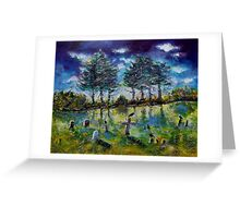 Old Cemetery at Ascot Corner Quebec Greeting Card