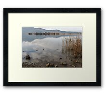 the water of the lake Framed Print