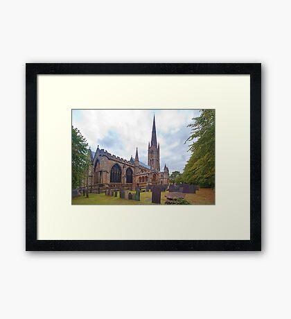 St. Wulframs Church (Back view) Grantham, Lincs. Framed Print