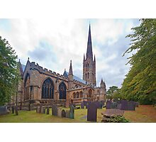St. Wulframs Church (Back view) Grantham, Lincs. Photographic Print