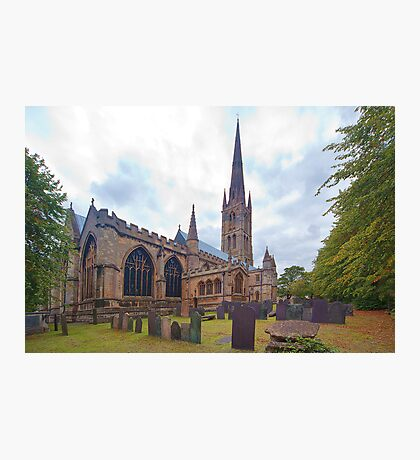 St. Wulframs Church (Back view) Grantham, Lincs. Photographic Print