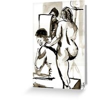 Models for Nude drawing Greeting Card