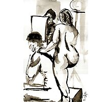 Models for Nude drawing Photographic Print
