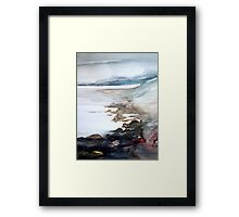 pebbles and rock pools Framed Print
