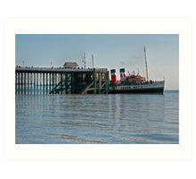 PS Waverley at Penarth Pier Art Print