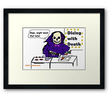 Cooking Show on the Other Side Framed Print
