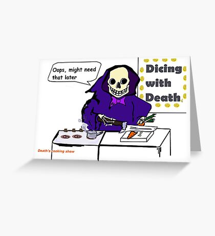 Cooking Show on the Other Side Greeting Card