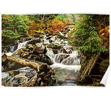 Cool Pure Waters Cascading Down Poster