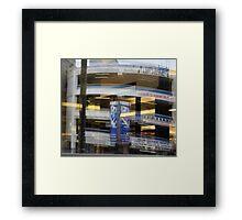 market garage Framed Print
