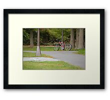 Quiet Bike Framed Print