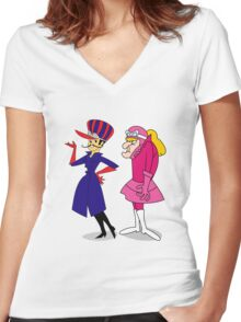 Drag Races Women's Fitted V-Neck T-Shirt